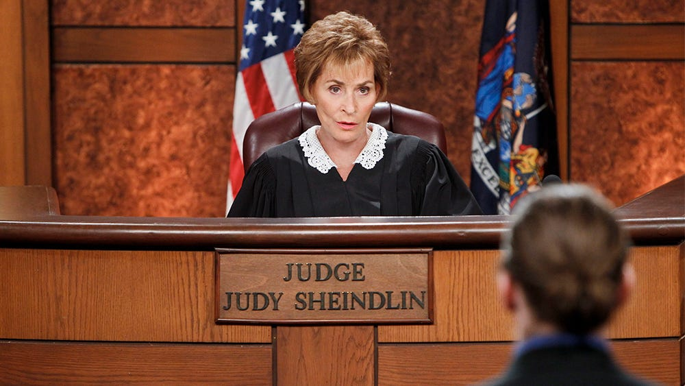 Episodic coverage of Judge Judy for the CBS special. Photo: Sonja Flemming/CBS©2014 CBS Broadcasting, Inc. All Rights Reserved
