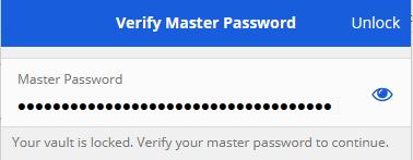 Master password - Bitwarden