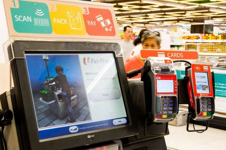 Improving the User Experience of self-checkout counter at NTUC Fairprice |  by Spuxdteam1 (Ian, Junyi, Edward and Beatrice) | Medium