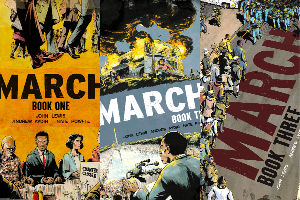 March, by John Lewis, Andrew Aydin, and Nate Powell