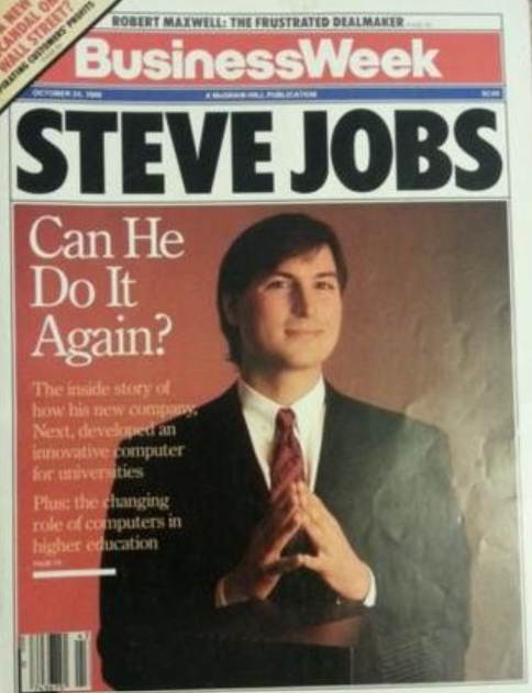 "Business Week magazine, October 1988 with Steve Jobs ""Can he do it again"""