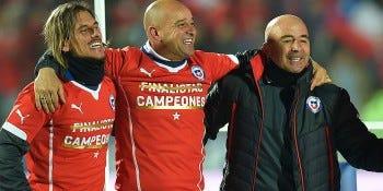 Sebastián Beccacece, Jorge Desio y Jorge Sampaoli