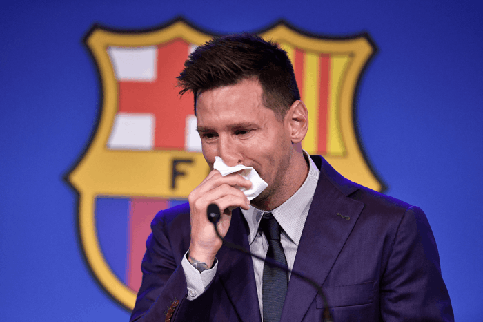 Lionel Messi confirms Barcelona exit as he cries at farewell - The Athletic