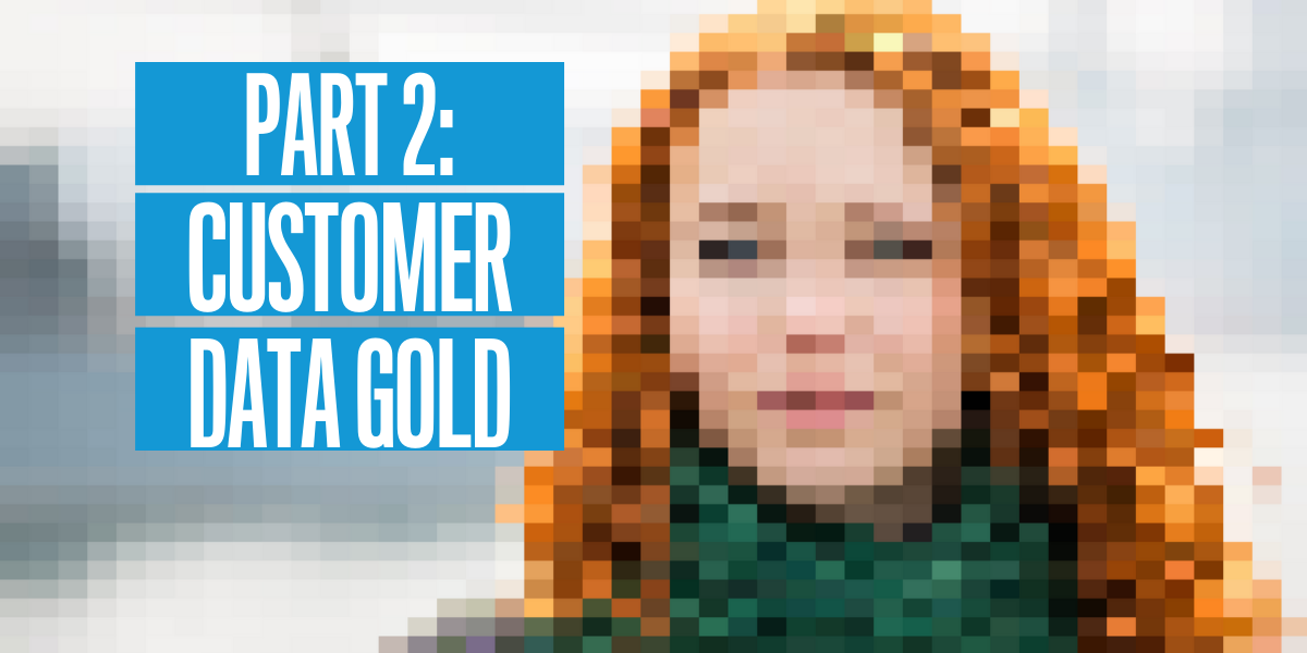Part 2: Customer Data is Gold. Header image.
