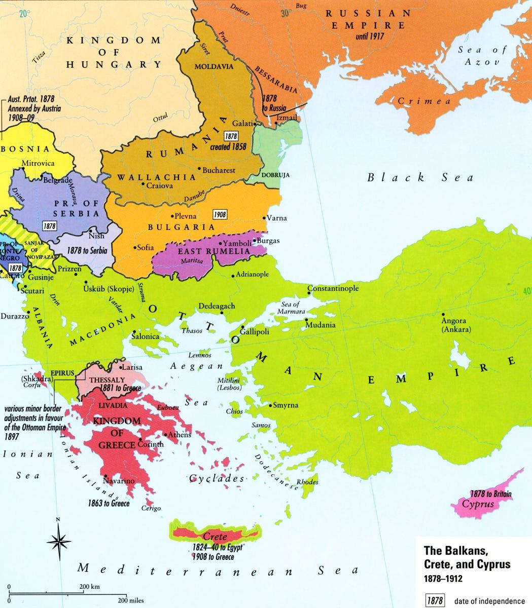 Map - Balkans 1878-1912