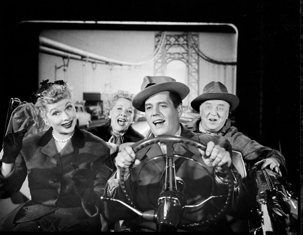 The cast of 'I Love Lucy' on their way to California