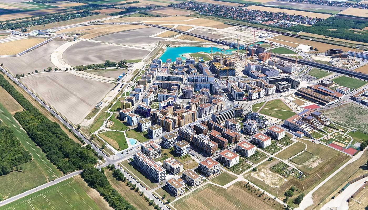 Where once was an airport, now Seestadt Aspern. (Photo: Tovatt)