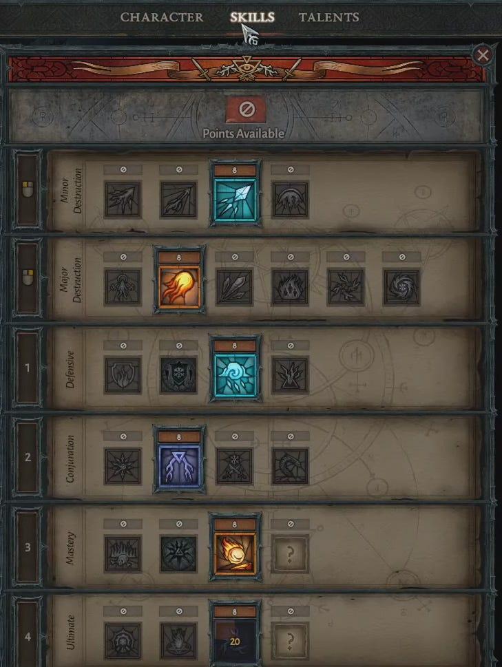 Diablo 4 Sorceress Skills