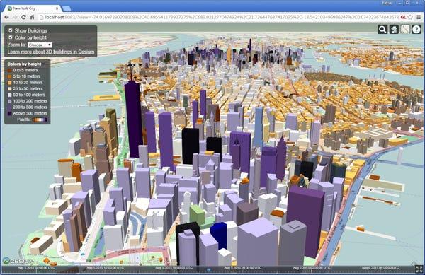 Live Map: Manhattan in 3D