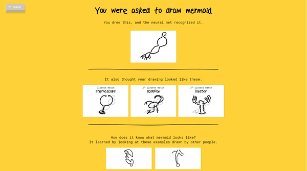 I have no clue how the Algo figured out the Mermaid. It was a pretty awful sketch!