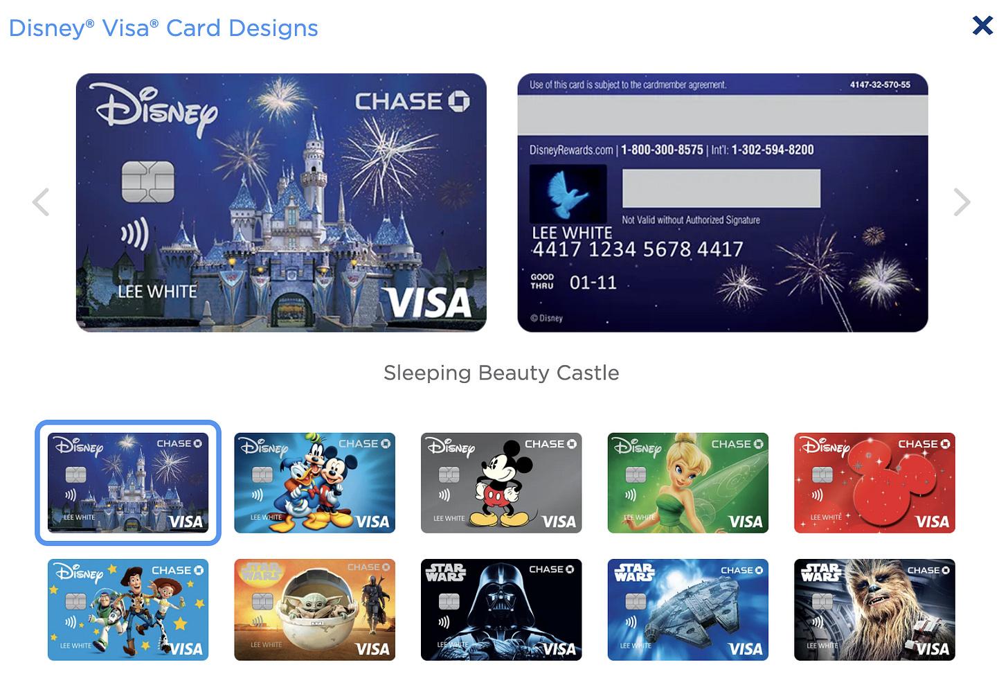 So many choices of Disney cards
