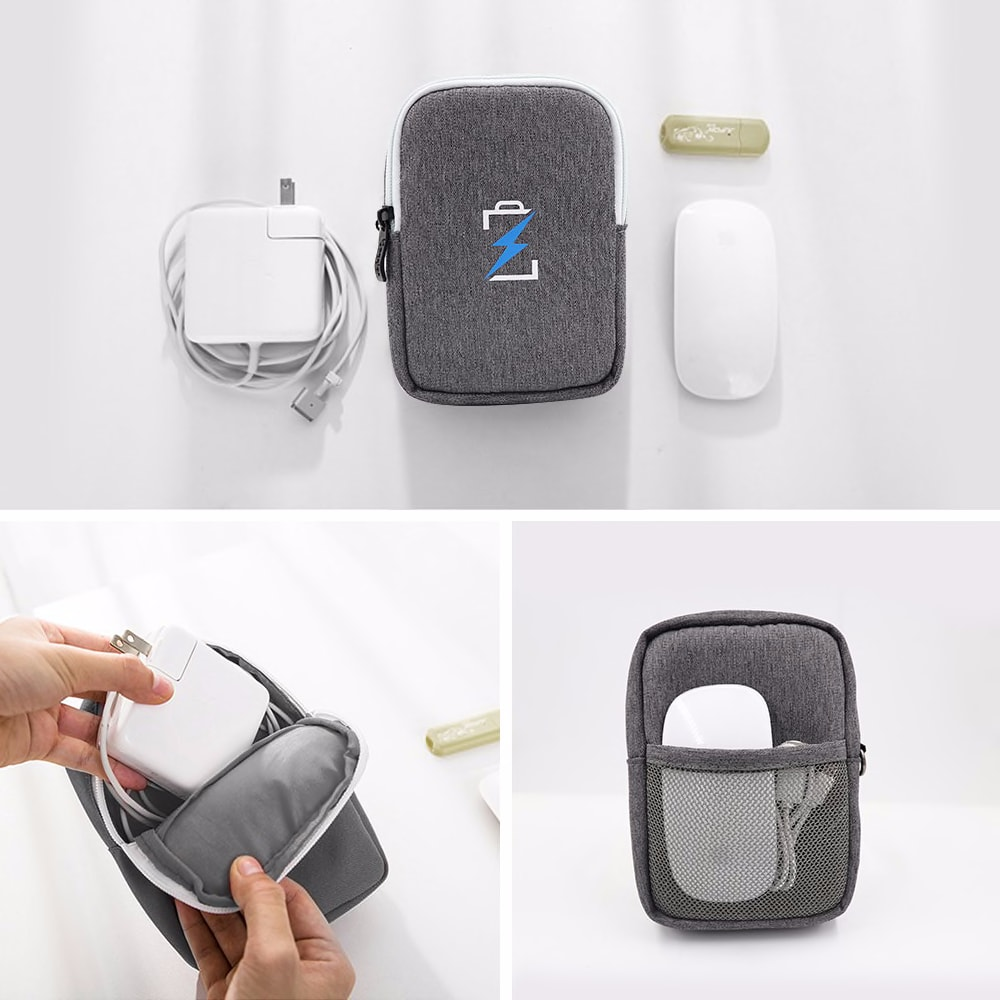 Travel closet organizer case for headphones Portable Digital storage bag with zipper accessories charger Data cable USB bag