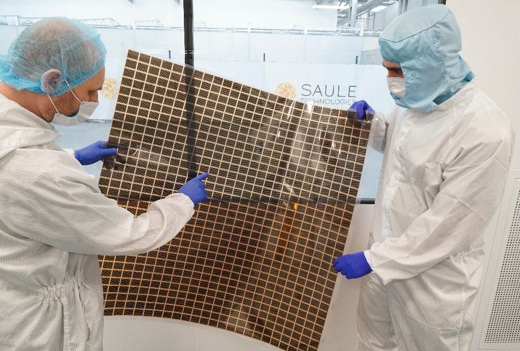 Photovoltaic panels coated with perovskite film are light, flexible and can easily be fixed to almost any surface to produce ele