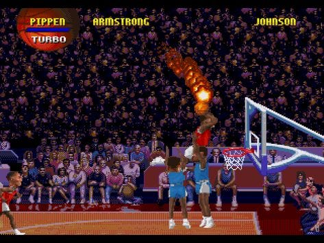 Image result for nba jam hes on fire