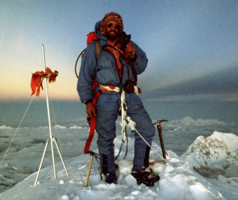 Doug Scott on summit of everest