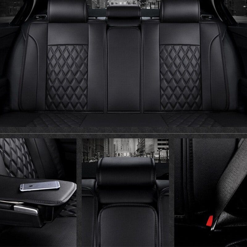 Car Seat Covers Complete Set Black//Red