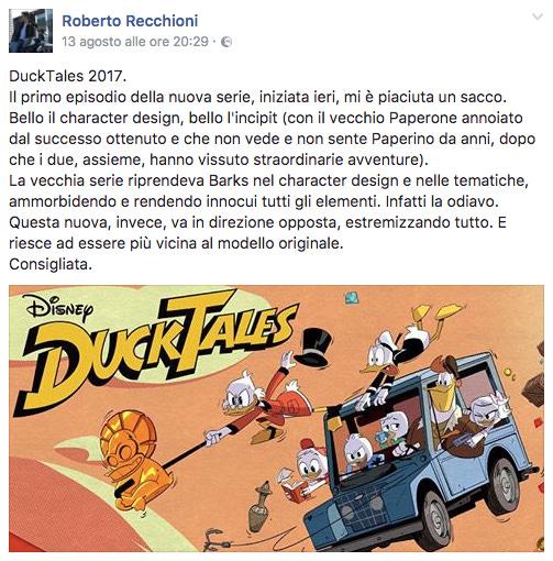Roberto Recchioni su DuckTales 2017