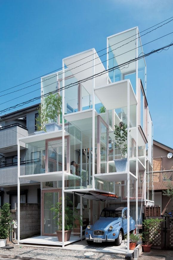 Image result for tokyo multi layered house