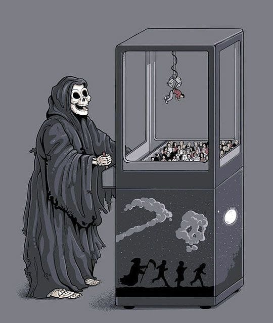 High Quality Grim Reaper Claw Machine Blank Meme Template