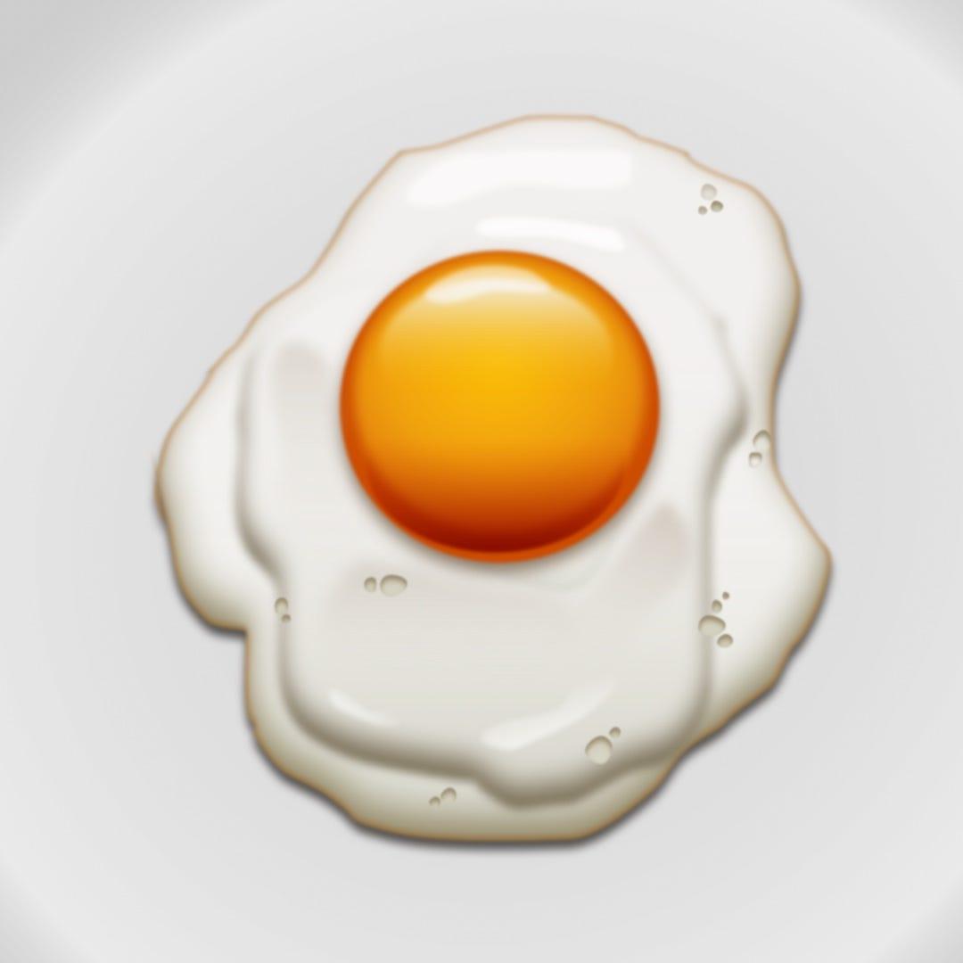 Illustration of a fried egg