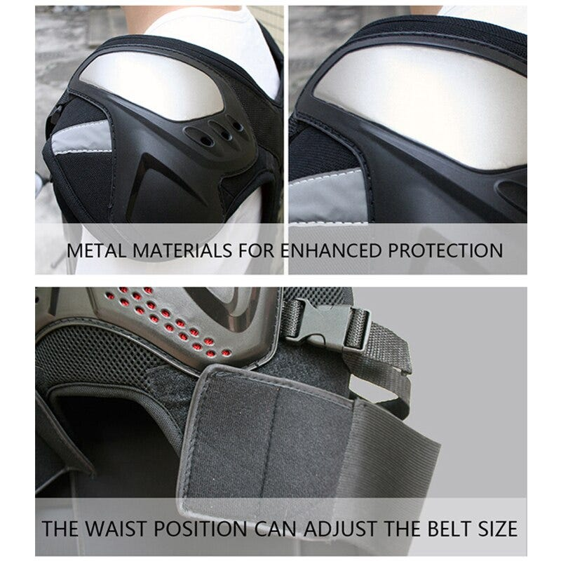 943848523 Outdoor Motocross Armor Vest Titanium Shoulder Pad Motorcycle Jackets Off Road Motorcycle Anti Fall Body Armour Motos Gear Motorcycle Equipments Parts Motorcycle Equipments