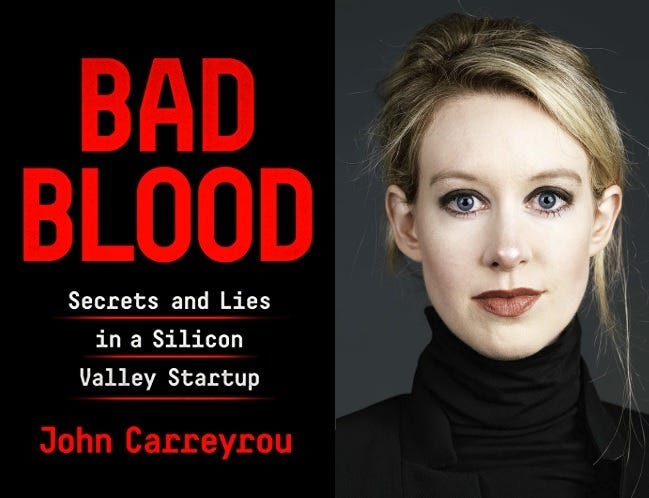 Review: Bad Blood: Secrets and Lies in a Silicon Valley Startup by John  Carreyrou | FrazerRice.Com | Interviews with entrepreneurs, experts and the  creative people that push the world forward . . . .