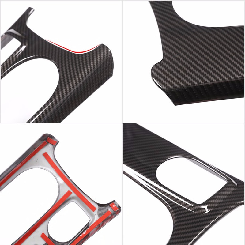Car Styling ABS Carbon Fiber Texture Center Console Water Cup Holder Trim Cover for Mercedes Benz A GLA CLA Class W176 X156 C117