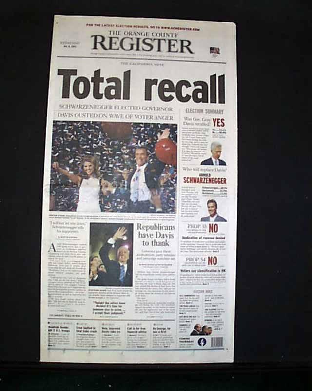 Arnold Schwarzenegger elected... - RareNewspapers.com