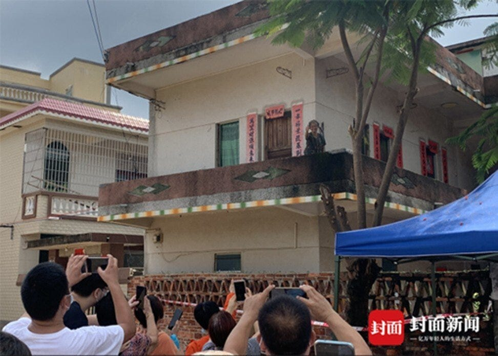 Quan Hongchan's home has become a tourist attraction after her dominance in Olympic diving. Photo: Handout