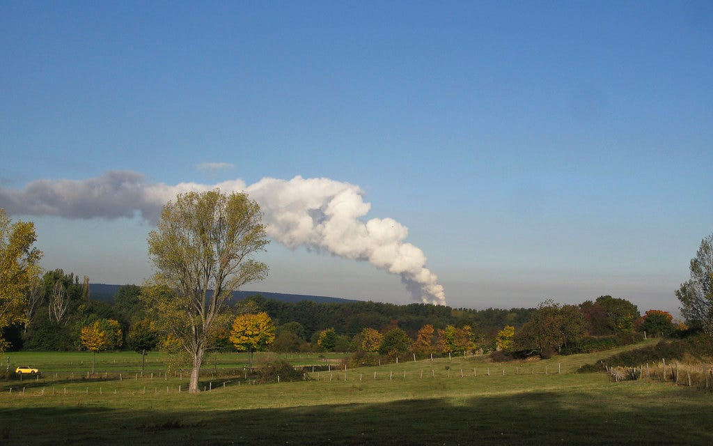 landscape with coal plant