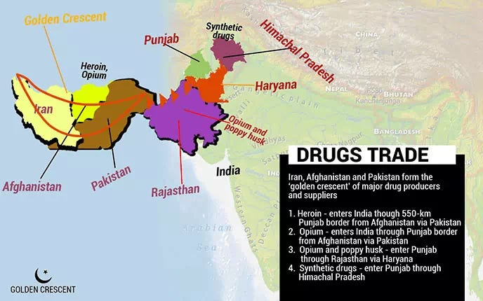 Map of Drugs Trade Country