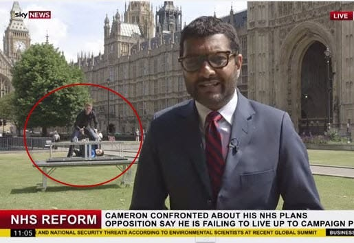 Magicians Young & Strange Video Bombs a British News ...