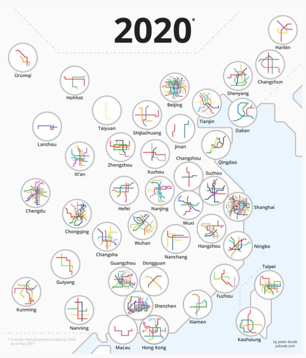 Animated viz of subway development in China. *Very* impressive.