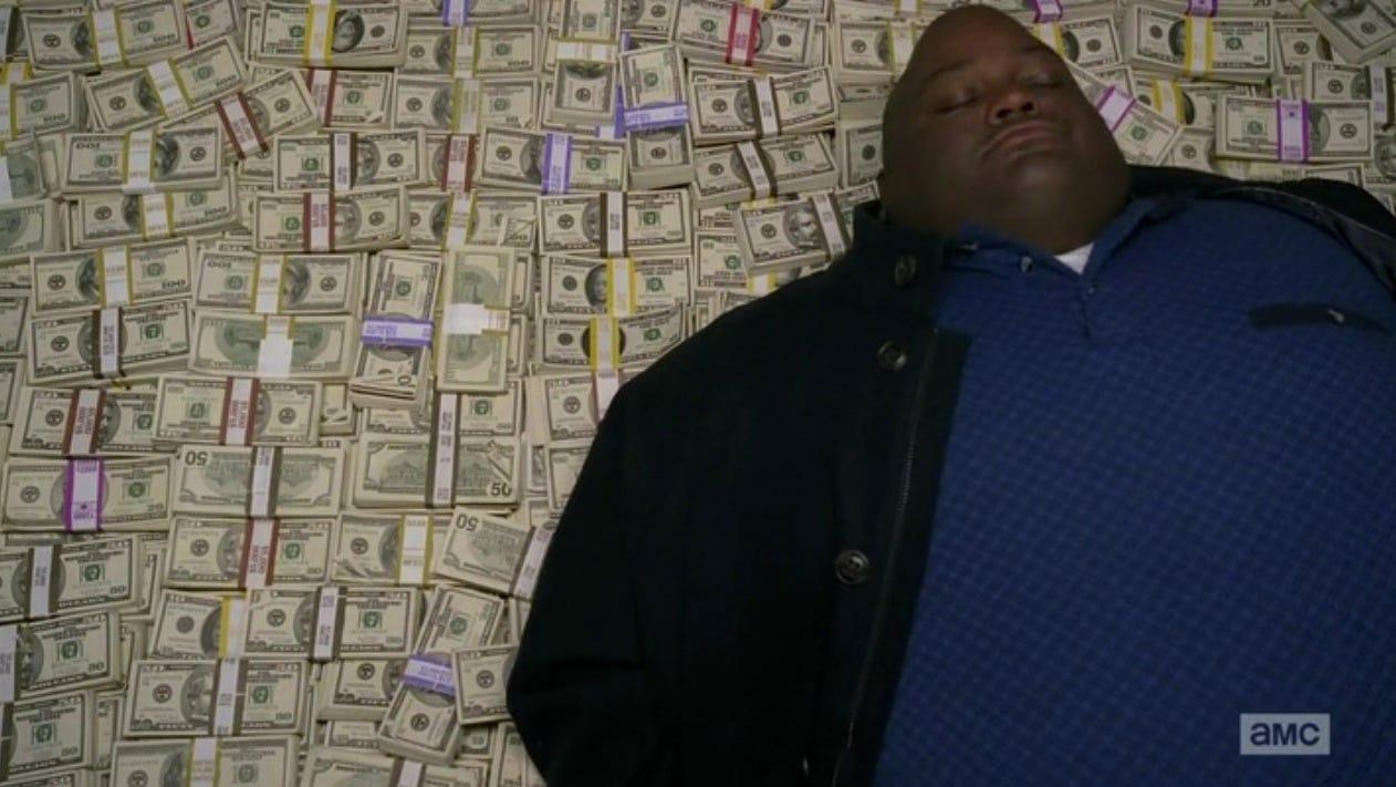 guy sleeping on pile of money Blank Template - Imgflip