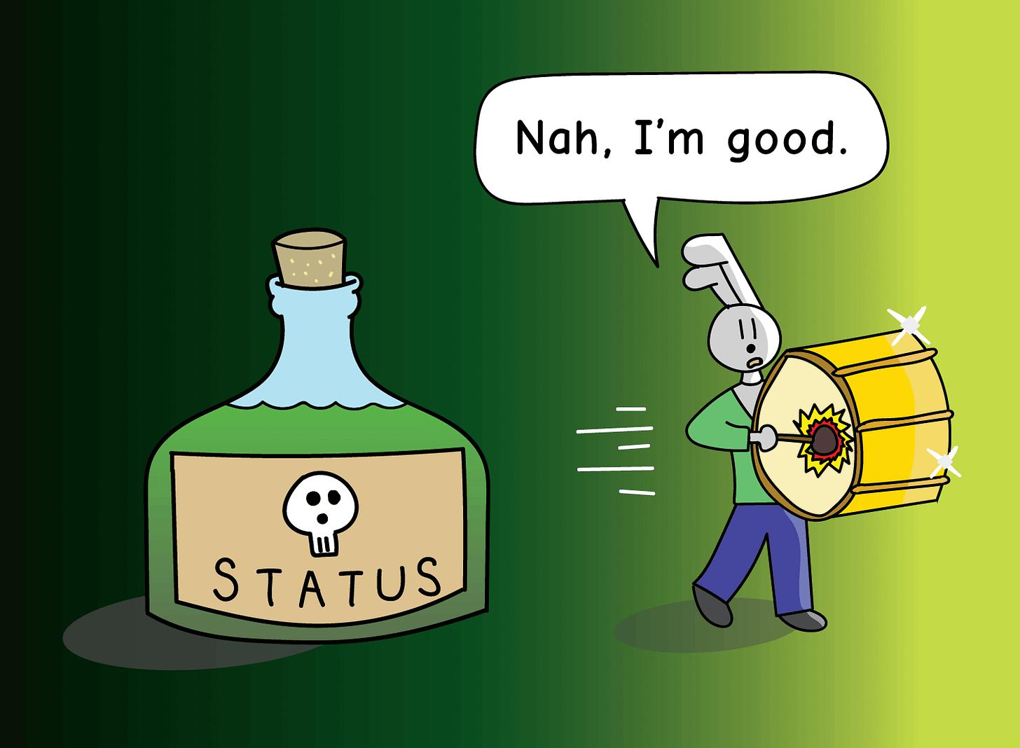 walking away from status poison