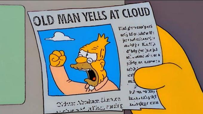Old Man Yells at Cloud   Memepedia Wiki   Fandom
