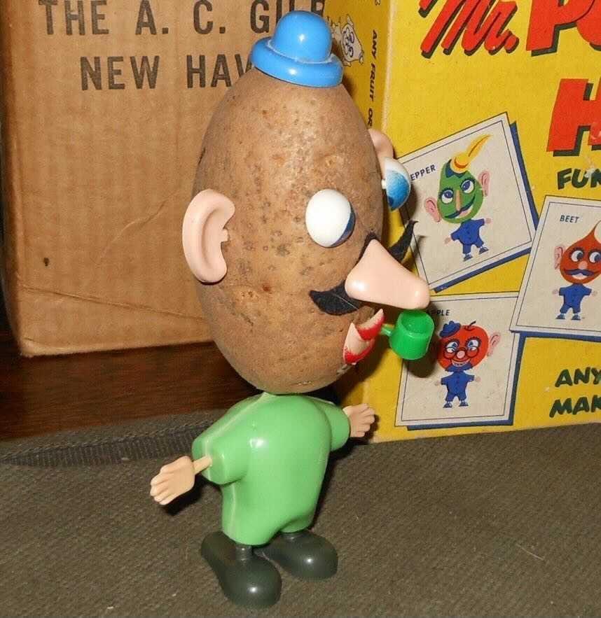 Old Mr. Potato head, looking horrific.
