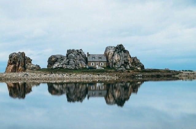 Cabin on an island