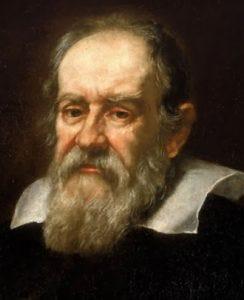 Portrait of Galileo Galilei.