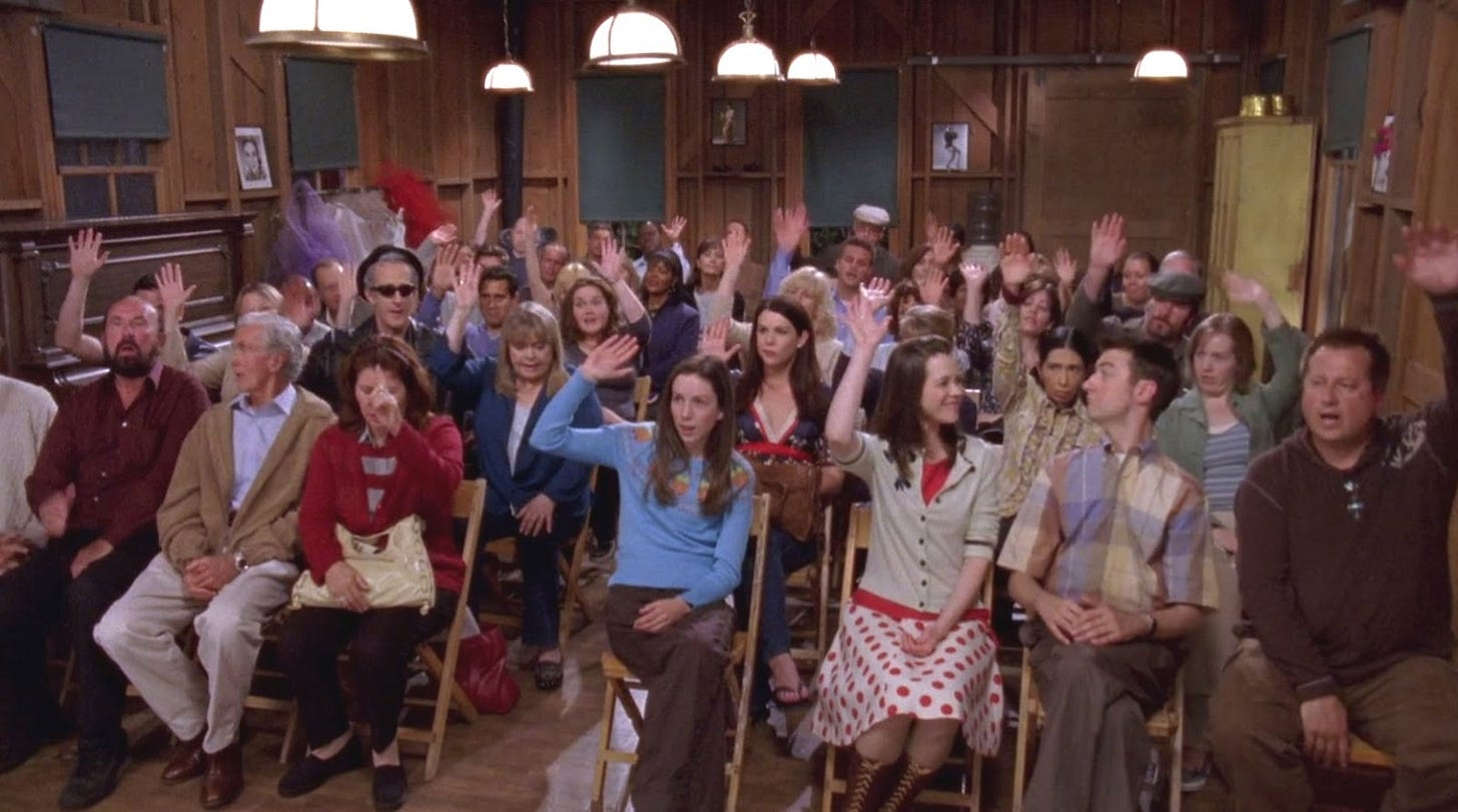 Image result for gilmore girls town hearing permit