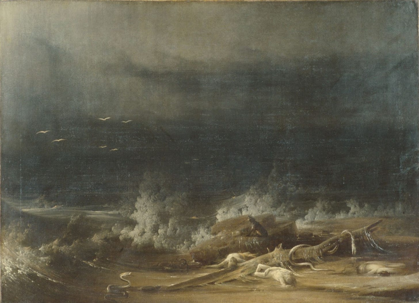 Picture of a storm hitting the shore