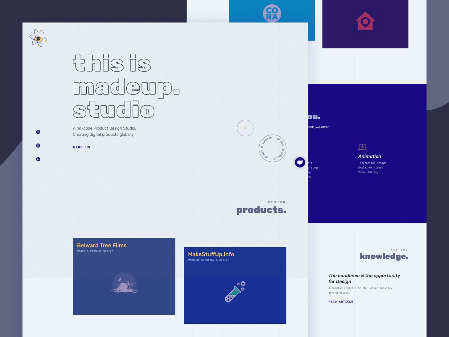 madeup.studio homepage