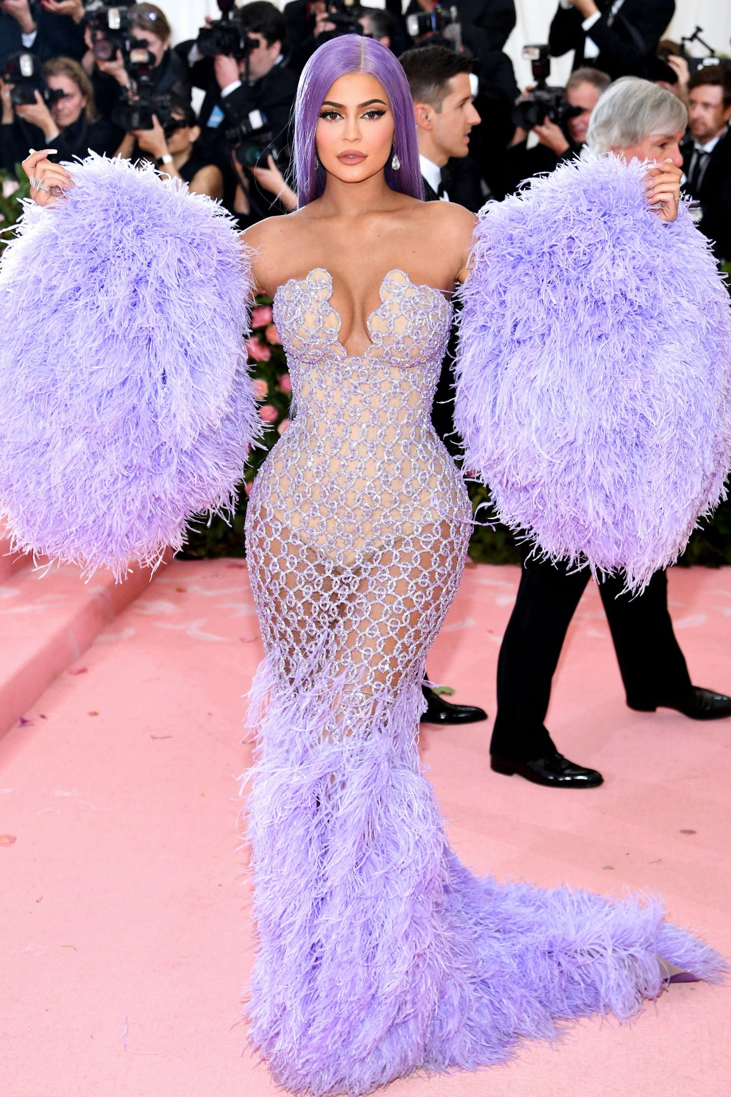 Kylie Jenner Hair-To-Toe Lavender Fashion At Met Gala