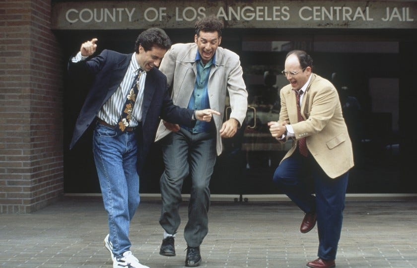 "Jerry Seinfeld, Michael Richards and Jason Alexander in ""Seinfeld"""