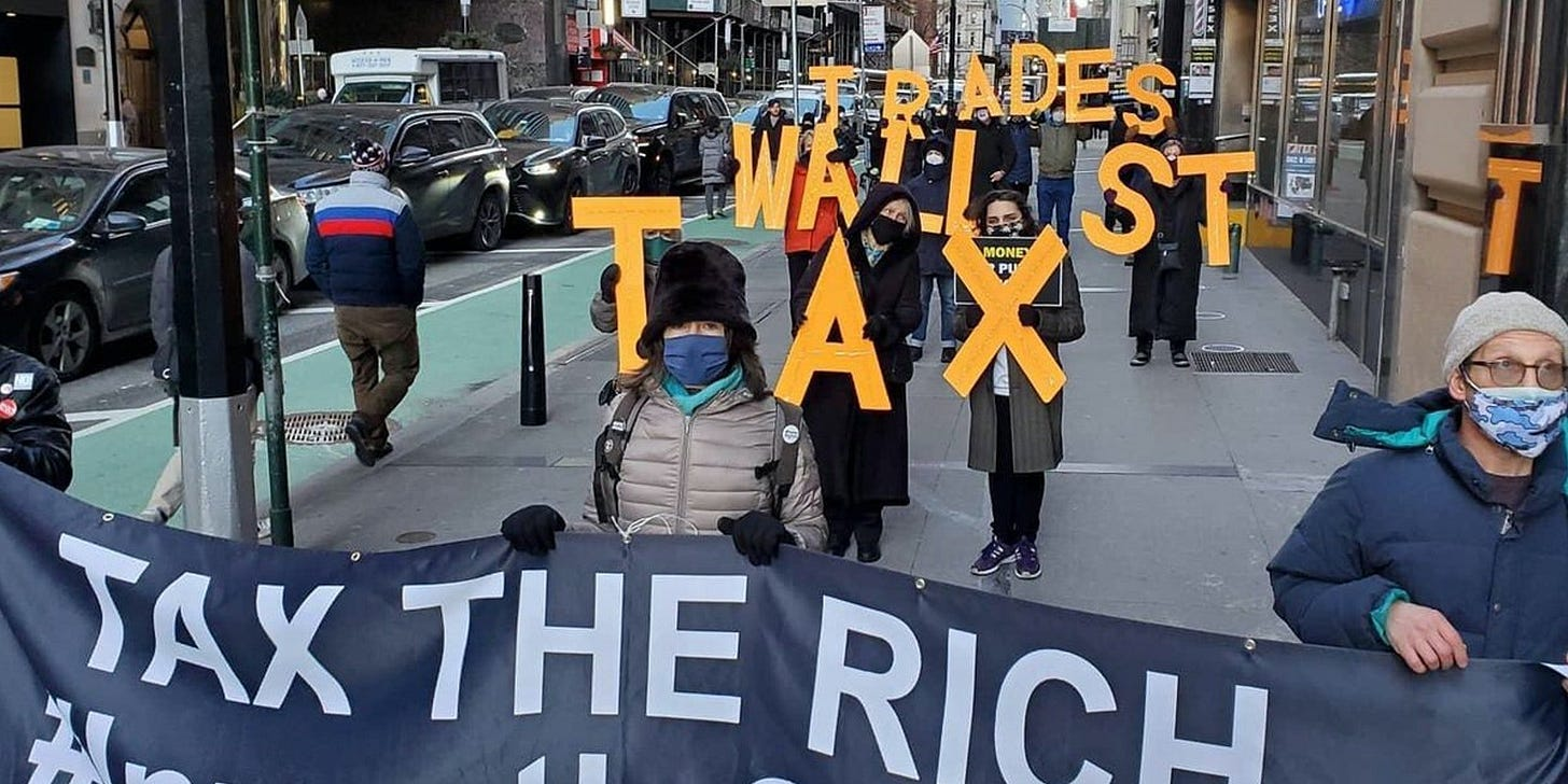 Video: Protesters Hit Wall Street After Robinhood Halts GameStop Trades