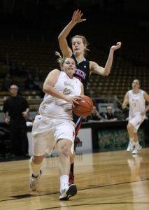 Stacey Barr drives - Courtesy University of Idaho Athletics