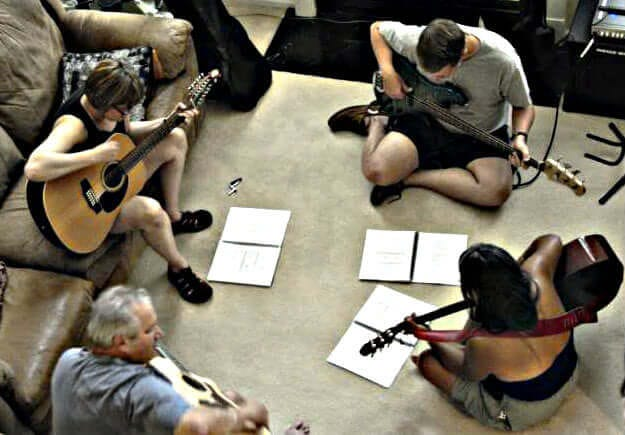 Group guitar lesson