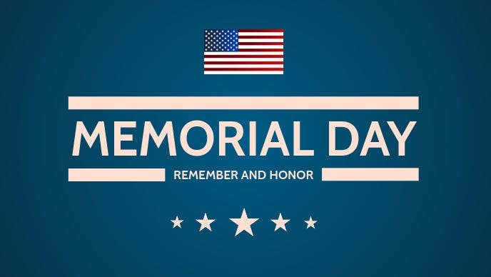 Happy Memorial Day Template   PosterMyWall