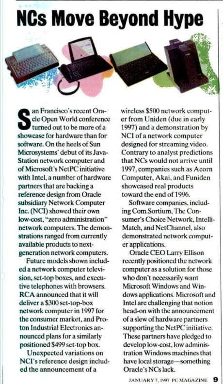 NCs move beyond the hype -- scanned article.