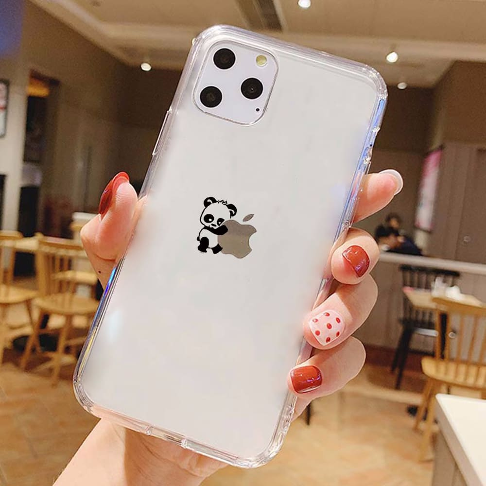 Pandas Phone Case for iPhone 11 case Off Soft TPU for iPhone 11 Pro XS MAX 8 7 6 6S Plus X XR 5S SE 2020 White Transparent Cover